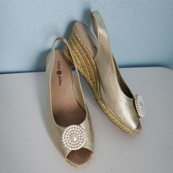 Lindsay Phillips espadrelle wedge sandals B4